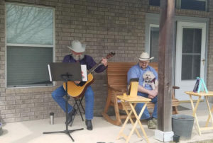 Sam and Nate Streaming Back Porch Worship